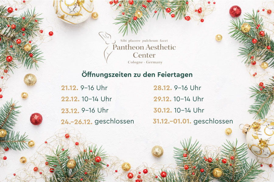 Öffnungszeiten zu Weihnachten und Neujahr 2020